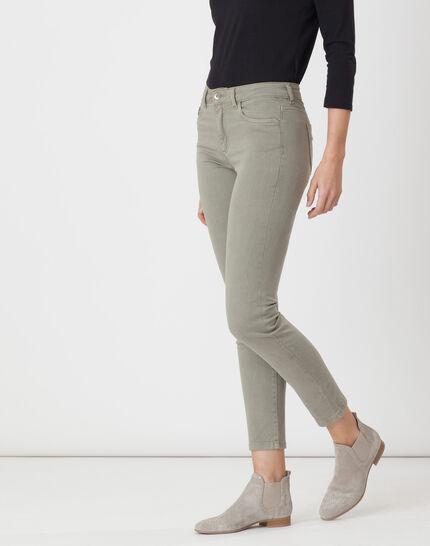 Oliver light khaki 7/8 length trousers (4) - 1-2-3