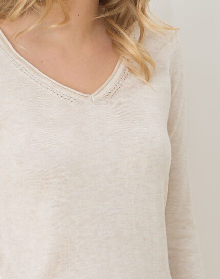 Honorine beige sweater with long sleeves (5) - 1-2-3