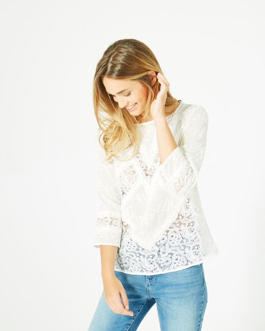 Elora ecru embroidered shirt (1) - 1-2-3
