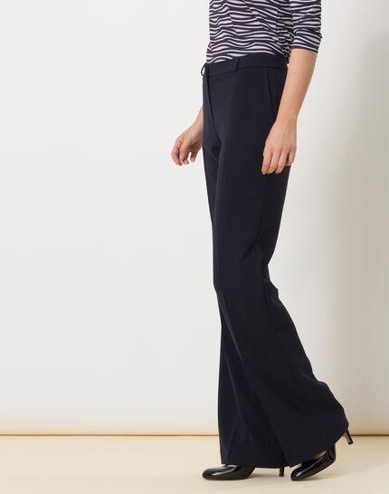 Pepin bis navy blue wide-cut trousers (3) - 1-2-3