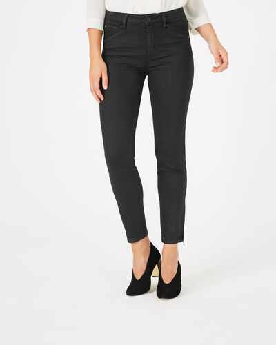 Pia black 7/8 length coated trousers (1) - 1-2-3