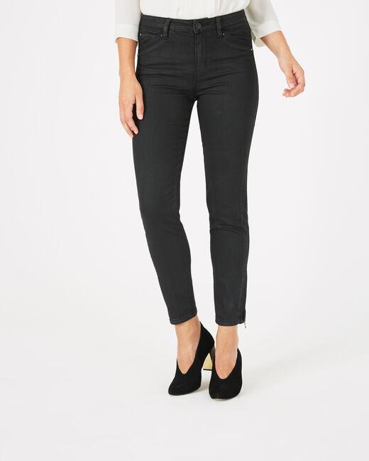 Pantalon noir enduit 7/8ème Pia (2) - 1-2-3