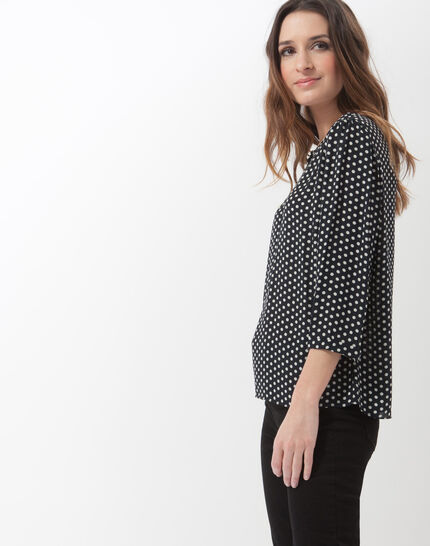 Astrid navy blue polka dot blouse (4) - 1-2-3