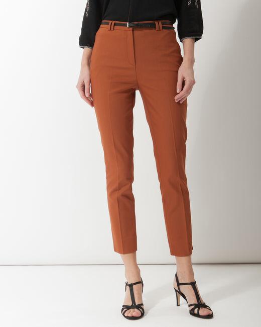 Pantalon city avec ceinture tabac Pauline (2) - 1-2-3