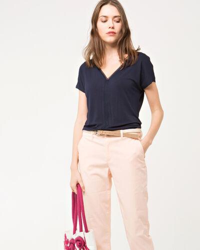 Tee-shirt bleu marine manches courtes Nem (1) - 1-2-3