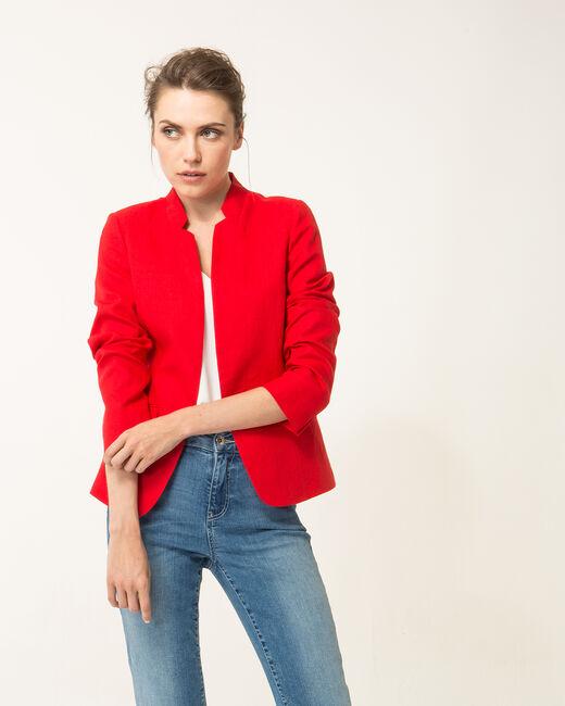 Veste rouge en lin Assina (2) - 1-2-3