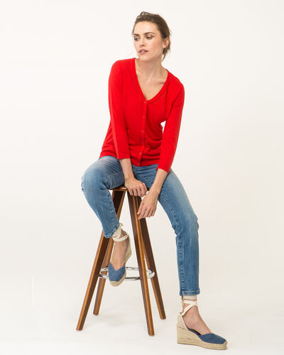 Harty red cardigan (1) - 1-2-3