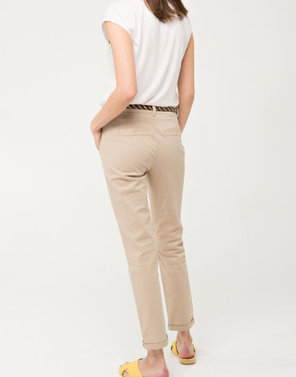 Denis beige 7/8 length trousers (3) - 1-2-3