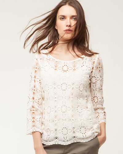 Estelle pale yellow lace blouse (2) - 1-2-3
