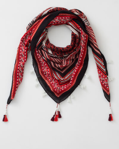Samson red printed scarf (1) - 1-2-3