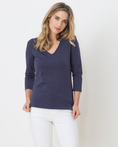 Tee-shirt bleu encre Nacre (2) - 1-2-3