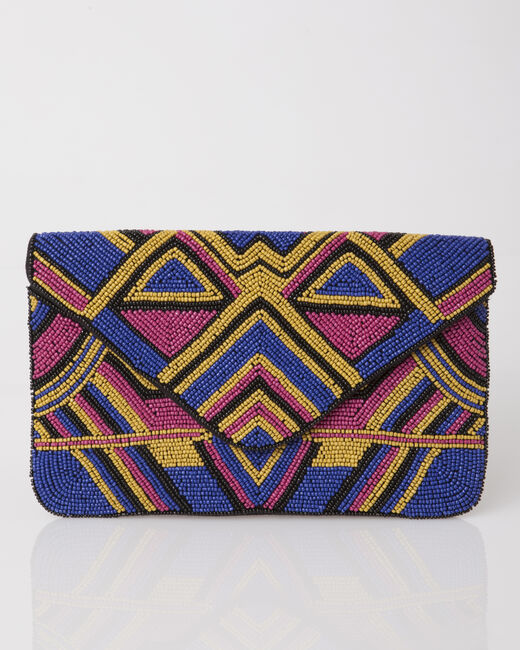Penny blue graphic clutch bag (2) - 1-2-3