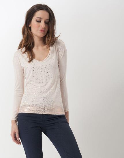 Noisette powder pink printed T-shirt PhotoZ | 1-2-3