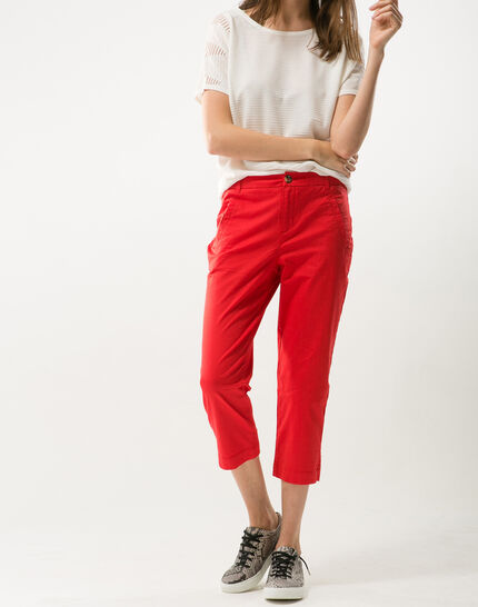 Filibert red cropped trousers PhotoZ | 1-2-3