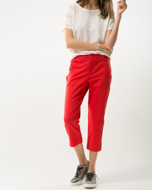 Filibert red cropped trousers (2) - 1-2-3
