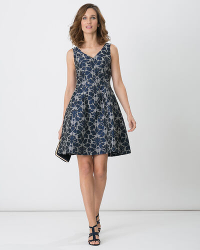 Fiona shiny jacquard dress (1) - 1-2-3