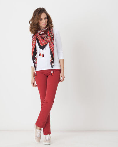 Victor straight-cut red trousers (2) - 1-2-3