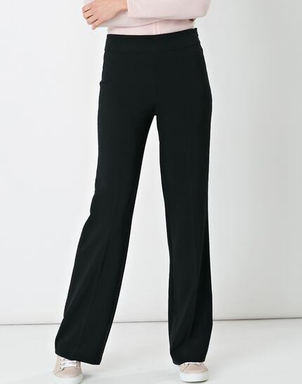 Nadège straight-cut black trousers PhotoZ | 1-2-3