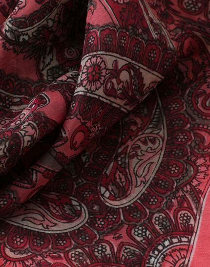 Sabin raspberry printed scarf PhotoZ | 1-2-3