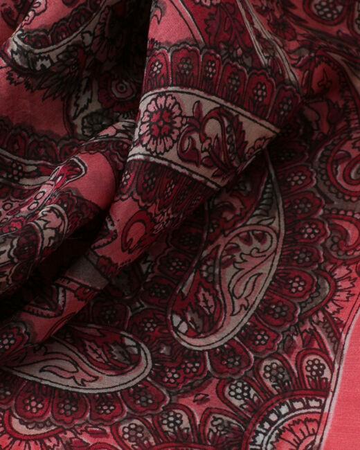 Sabin raspberry printed scarf (2) - 1-2-3