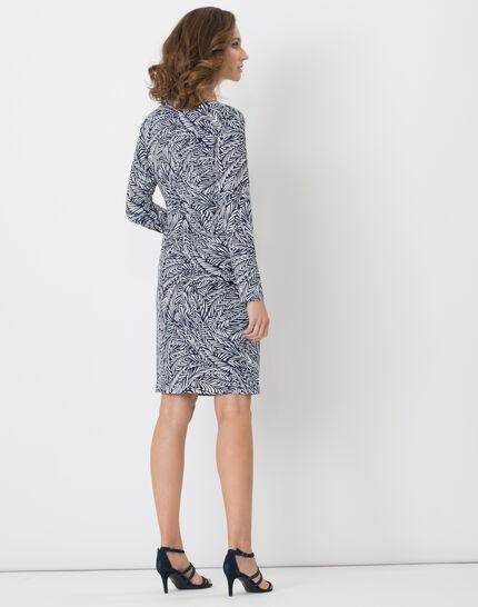 Bermude printed navy blue dress (3) - 1-2-3