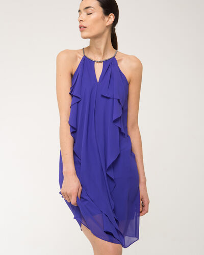 Frisson violet frilly dress (2) - 1-2-3