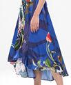 Robe longue bleue imprimé fleuri Béline PhotoZ | 1-2-3