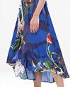 Robe longue bleue imprimé fleuri Béline (5) - 1-2-3