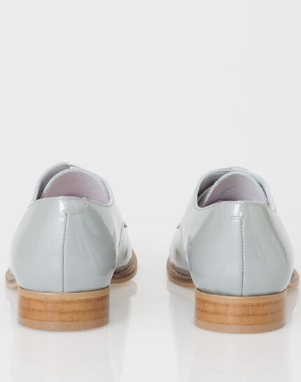 Jamie Derbies in grey patent leather (3) - 1-2-3