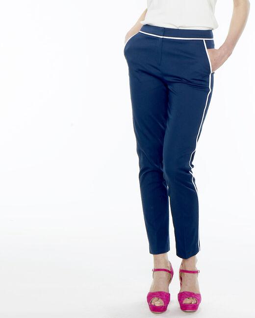 Rusty navy blue stripe trousers (2) - 1-2-3