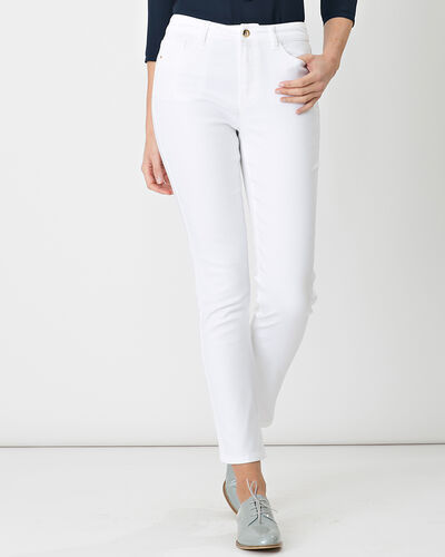 Oliver 7/8 white coated trousers (1) - 1-2-3