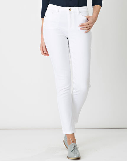 Oliver 7/8 white coated trousers (2) - 1-2-3
