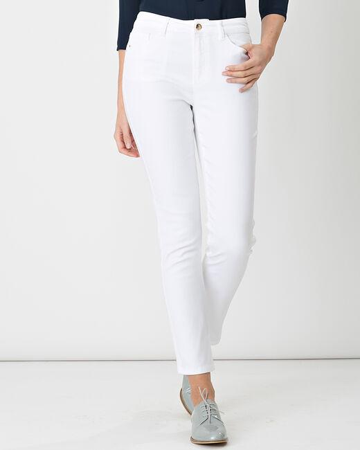 Pantalon blanc enduit 7/8 Oliver (2) - 1-2-3
