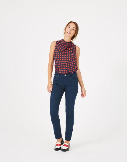 William slim-cut blue trousers PhotoZ   1-2-3