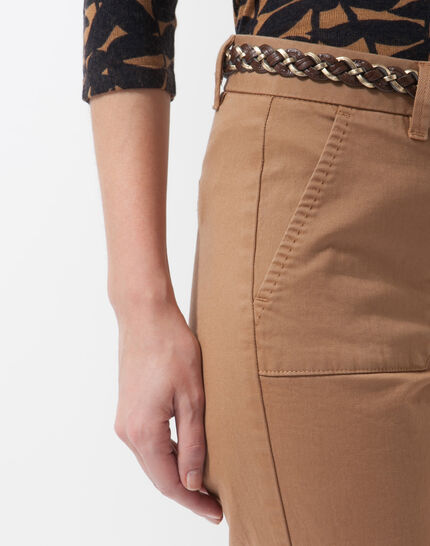 Denis 7/8 length camel trousers with large combat-style pockets (5) - 1-2-3