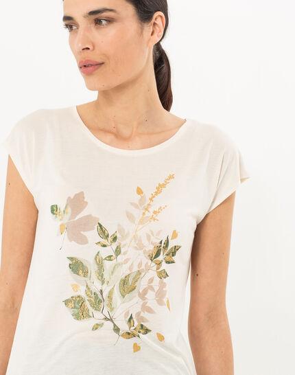 Tee-shirt écru imprimé Nerbier (5) - 1-2-3