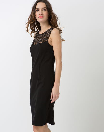Calypso black dress with Swarovski-embellished neckline (3) - 1-2-3