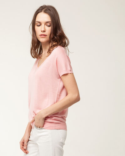 Hope pale pink short-sleeved sweater (1) - 1-2-3