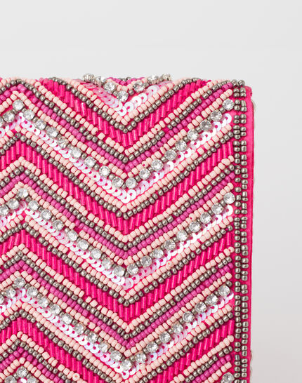Prune beaded pink clutch (3) - 1-2-3