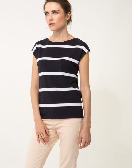 Tee-shirt rayé bleu marine Nil bis PhotoZ   1-2-3