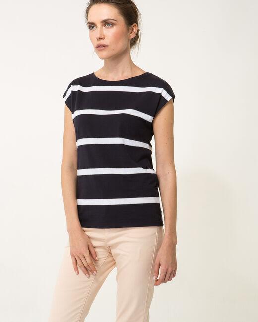 Tee-shirt rayé bleu marine Nil bis (2) - 1-2-3