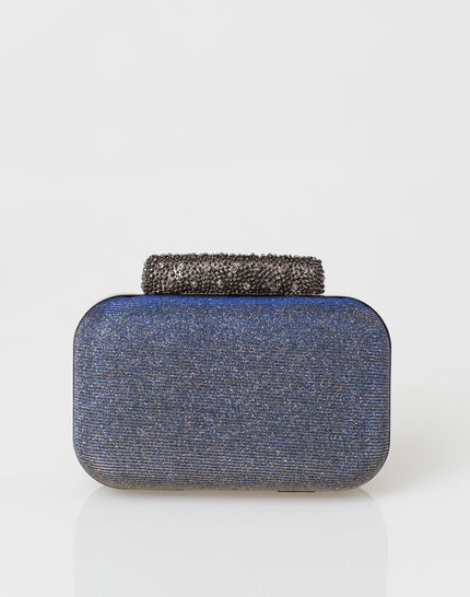 Patrizia blue glittery clutch bag PhotoZ | 1-2-3