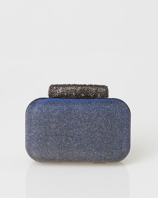 Patrizia blue glittery clutch bag (2) - 1-2-3