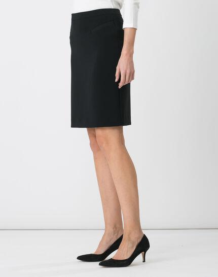 Jackie black tailored skirt (4) - 1-2-3