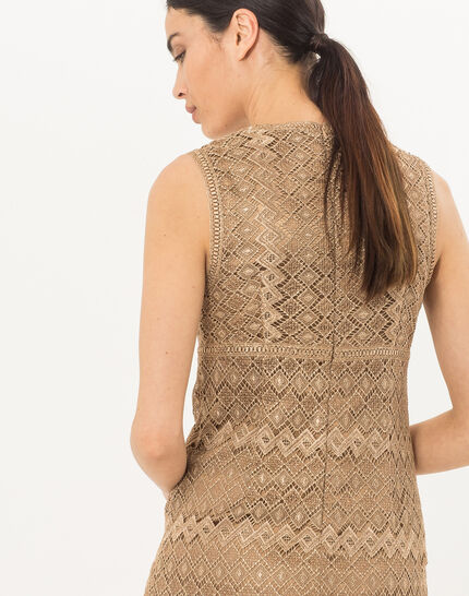 Fever gilt dress in Lurex lace  (4) - 1-2-3