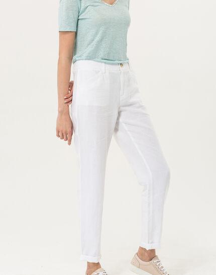 Dorian white linen chinos (3) - 1-2-3