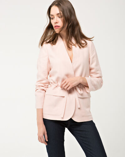 Allegria pale pink linen safari jacket (2) - 1-2-3