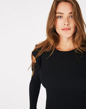 Pull noir épaules dénudées paule noir.