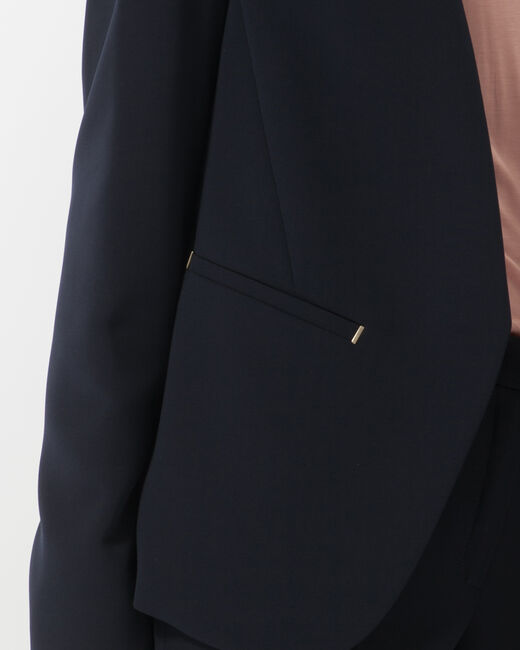 Veste bleu marine rivets poches Maite (1) - 1-2-3