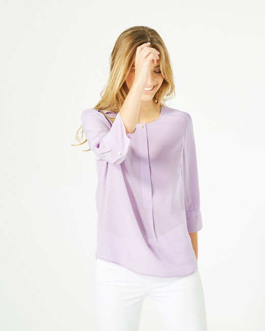 Dorothée lilac silk blouse (1) - 1-2-3
